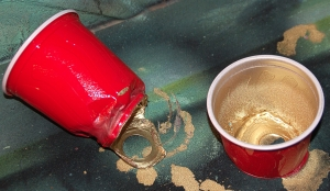 melted solo cup coffee